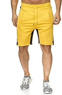 Redbridge Uomo Pantaloni Strisce Basic Jogger Sportivo Corti Tempo Libero Shorts