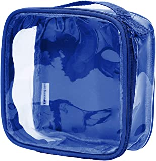 Clear TSA Approved 3-1-1 Travel Toiletry Bag/Transparent See Through Organizer (Royal Blue)