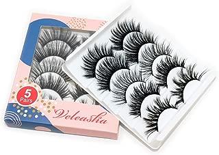 Veleasha Faux Mink Eyelashes 5 Styles Handmade 3D Lashes for Fasion Girls Deluxe Soft False Eyelashes (OBSESSION)