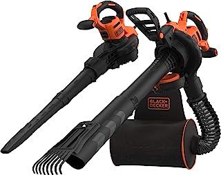 Black+Decker BEBLV301 Elektrische bladzuiger, 3-in-1, 3.000 watt, met hakselaar + opsteekbare bladbreker, 72 l opvangzak r...
