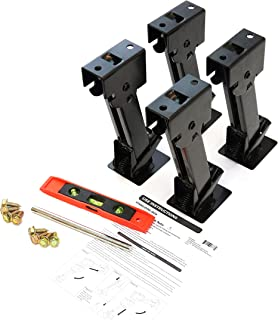 Red Hound Auto 4 Telescoping Folding Trailer Stabilizer Jacks Swing Down 1000 Lbs Support Capacity Each for RV Trailer Camper Includes Handle and Mounting Screws