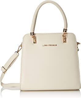Lino Perros White Faux Leather Handbag
