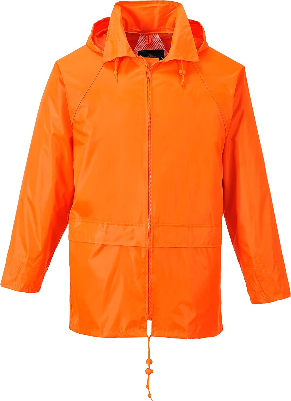 Portwest Men's Classic Rain Jacket 3XL (Chest 54-55in) - Orange