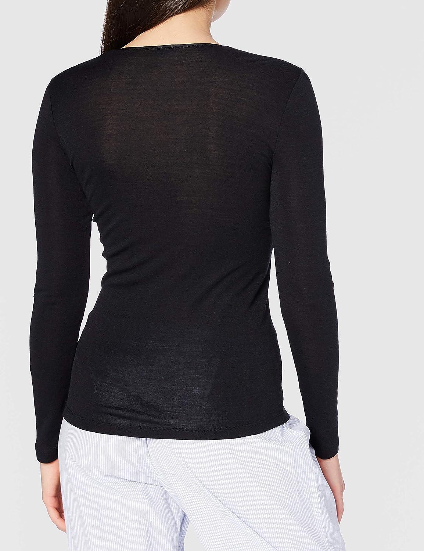 HANRO Women's Woolen Silk W Long Sleeve Shirt 71409