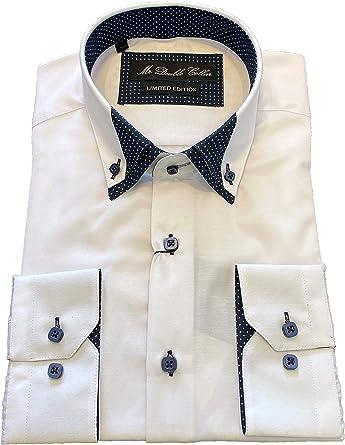 MrDoubleCollar Camisa de cuello doble con diseño italiano ...