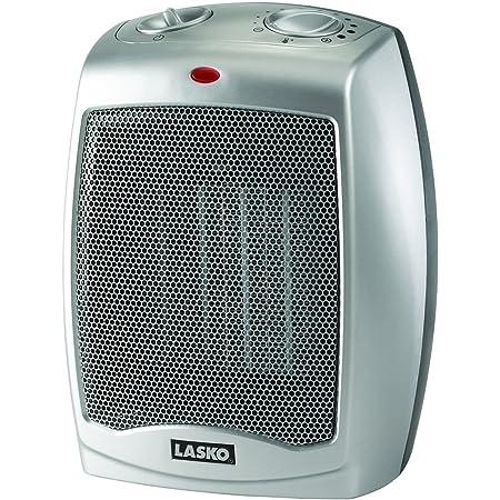 Lasko 754200 Ceramic Portable Space Heater, Silver