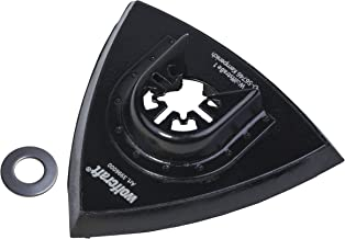 Wolfcraft 3996000 - Plato abrasivo adhesivo, triangular, para sierras vibratorias