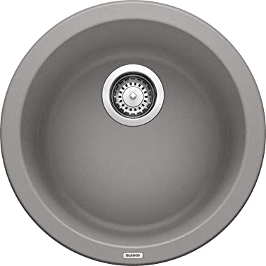 BLANCO, Metallic Gray 513382 RONDO SILGRANIT Drop-In or Undermount Round Bar Sink
