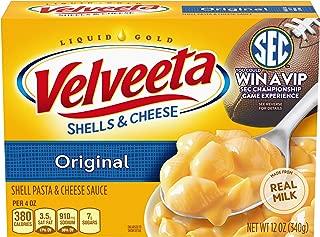 Velveeta Original Shells & Cheese Dinner (12 oz Boxes, Pack of 6)