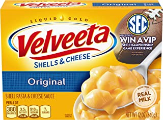 Velveeta Original Shells & Cheese (12 oz Boxes, Pack of 12)