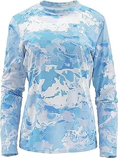 Simms Solarflex UPF 50+ Crewneck Printed Shirt for Women – Ladies Long Sleeve Sun Protection Fishing Shirt – Lightweight, Breathable, Moisture Wicking & Anti Odor