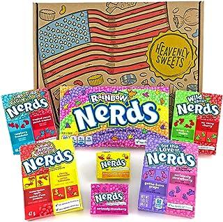 comprar comparacion Heavenly Sweets Dulces Nerds Cesta Caramelos - Selection Americana, Rainbow Nerds, Nerds Mini Boxes, Laffy Taffy - Regalo ...