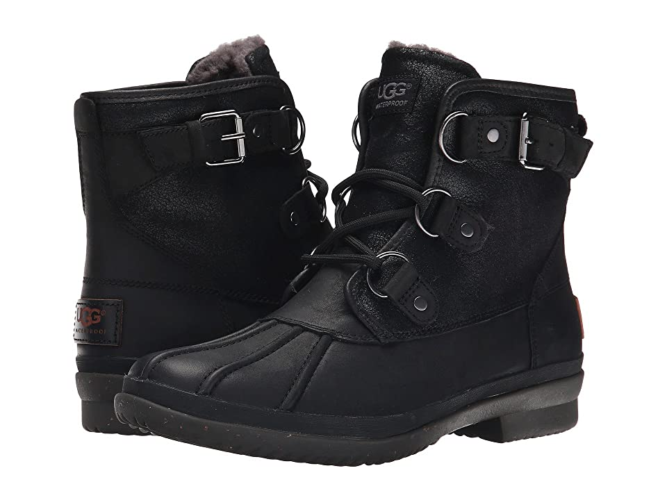 UGG Cecile (Black Leather) Women