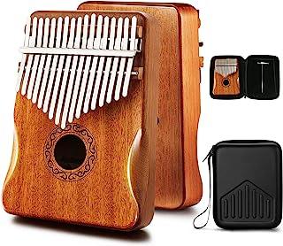 MIFOGE Kalimba Thumb Piano 17 Keys with Mahogany Wood,Mbira,Finger Piano Builts-in Waterproof Protective Box, Easy to Lear...