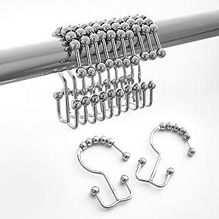 Roller Metal Shower Hooks Chrome Lot of 2 NEW BJ