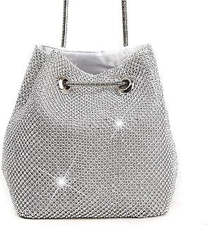 Clutch Handbag Diamond Gold Crossbody Bag Evening Dress Silver Shoulder Bags Dinner Wallet Wedding Reception Pocket Dress Cosmetic Bag Bucket Bag (11×15×16cm)
