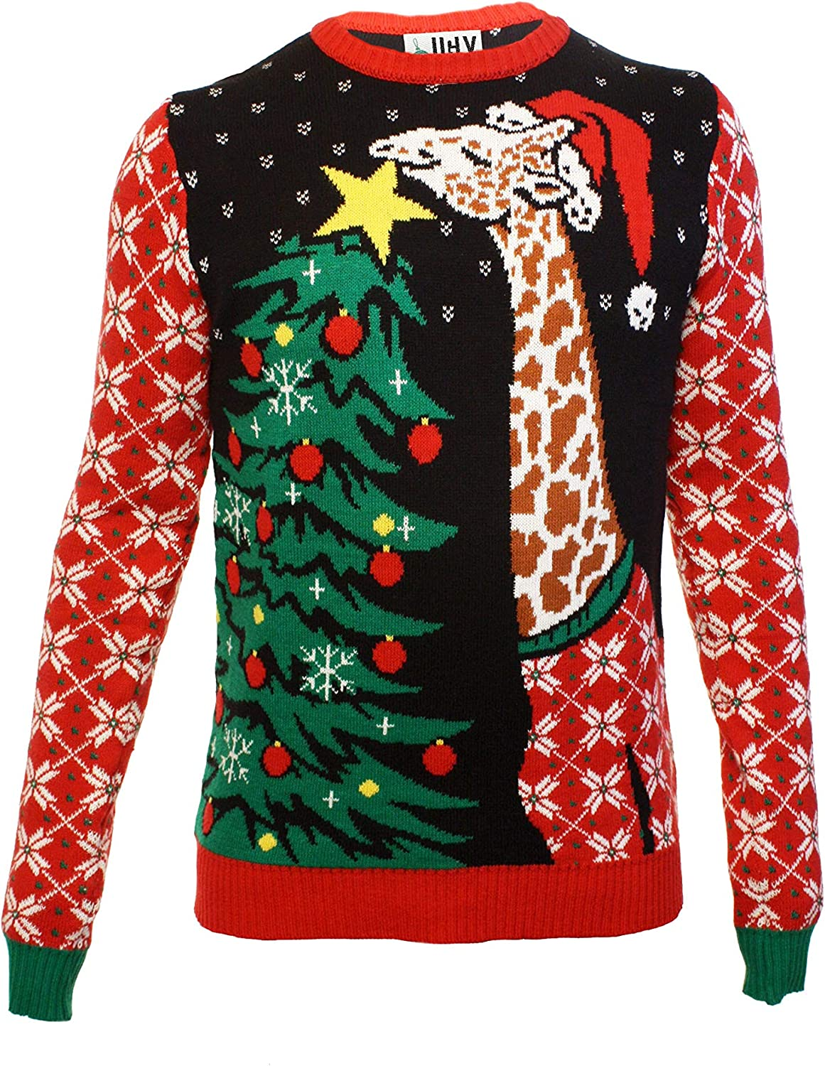 Ugly Christmas Party 推奨 Sweater Men's Animals Swea SALENEW大人気! Assorted Knitted
