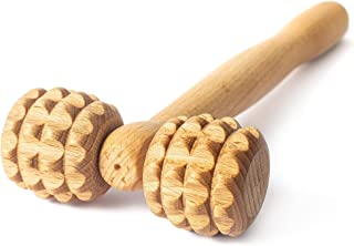 Tuuli Accessories Masseur Rouleau de Massage Visage Tete Appareil Maderothérapie Bois