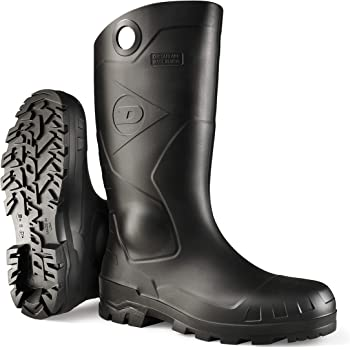 Dunlop 8677609 Chesapeake Boots with Safety Steel Toe, 100% Waterproof PVC, Lightweight and Durable Protective Footwear, Size 9