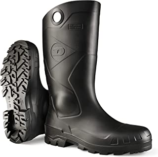 Dunlop 8677613 Chesapeake Boots with Safety Steel Toe, 100% Waterproof PVC, Lightweight and Durable Protective Footwear, Size 13