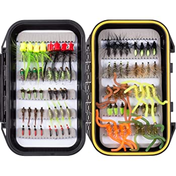Waterproof Fly Box Assorted Mixed Wet Trout Flies for Fly Fishing