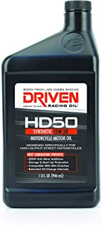 Driven Racing Oil 02706 HD50 High Zinc Motorcycle Oil (15w-50 Quart), 1 quart