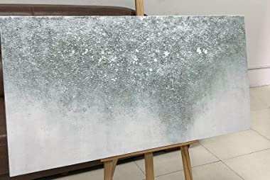 Tiancheng Art, 24x48 inch Contemporary Abstract Art Hand-Painted Oil Painting On Canvas Modern Home Decor Wall Art Painting C
