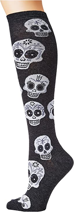 Big Muertos Skull Knee High