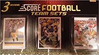 Green Bay Packers 3 Team Set Factory Sealed Gift Lot Including 2015, 2013 and 2012 Score Packers Sets Featuring 3 Different Aaron Rodgers and 3 Clay Matthews Cards Plus Rookies and More