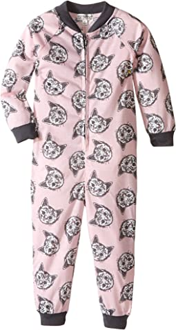 Meow or Never Cat One-Piece Pajama (Toddler/Little Kids/Big Kids)