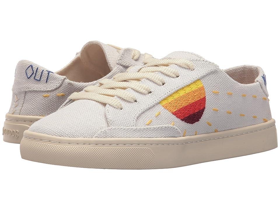 Soludos Embroidered Sun Sneaker (White) Women