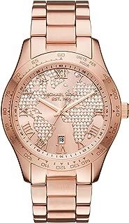 Women's Layton Rose Gold Tone Stainless Steel Watch MK6376