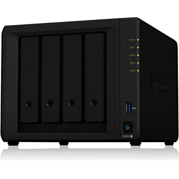 Synology 4 bay NAS DiskStation DS920+ (Diskless), 4-bay; 4GB DDR4
