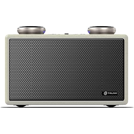 Trunk Audio Megalo Portable Wireless 40W Bluetooth Speaker - Bass Booster   FM Modes   Immersive Sound with Up to 5 H Playtime, Splash Resistance, USB, AUX, Multiple Connectivity Modes (Wooden Body)