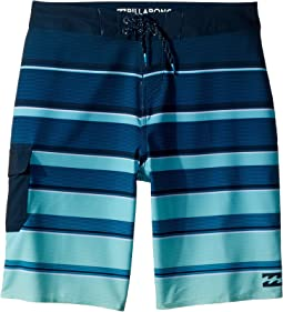 Billabong Kids All Day X Stripe Boardshorts (Big Kids)