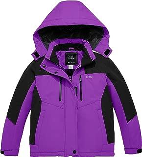 ZSHOW Girls' Winter Waterproof Ski Jacket Warm Fleece Windproof Hooded Snow Coat