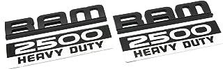 2 NEW CUSTOM MATTE BLACK AND WHITE CUMMINS 2500 DOOR BADGES EMBLEMS SET 2500HD