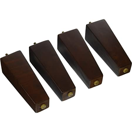 """For Couch and Furniture Set of 4 2"""" Tall Walnut Replacement Wooden Sofa Legs"""