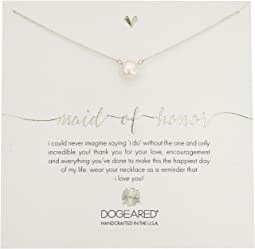 Dogeared - Maid of Honor, Large White Pearl Necklace
