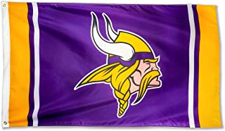 Winner-Sports NFL Minnesota Viking 3x5 Foot Polyester Flag - Vivid Color and Double Stitched - Super Bowl Banner with Brass Grommets 3 X 5 FT