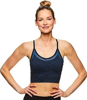 Gaiam Women's Strappy Wireless Bralette - Medium Impact Racerback Workout & Yoga Sports Bra