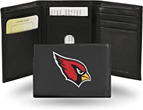 Rico Industries Arizona Cardinals Embroidered Leather Tri-Fold Wallet