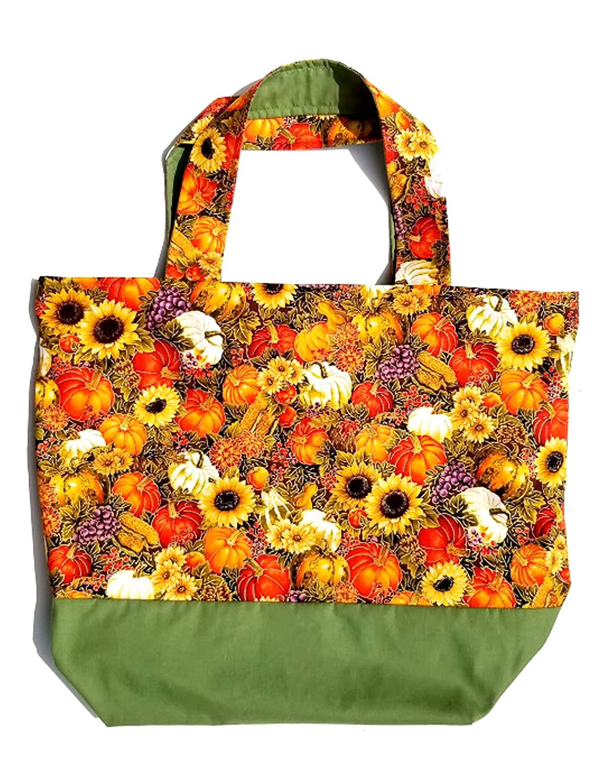 Ranking TOP3 Super-cheap Hand Crafted Tote Bag-Goldleaf Pumpkins Sunflower Corn