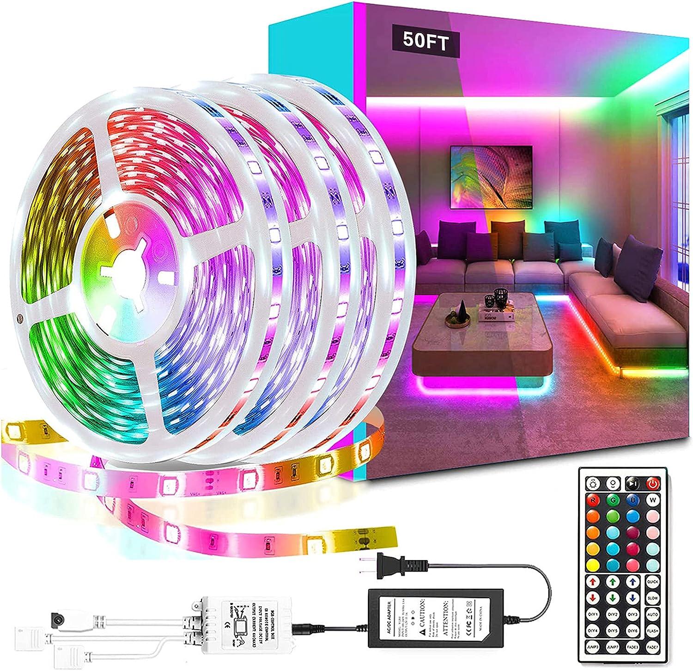 Solhevn 50ft RGB LED Lights  $11.39 Coupon
