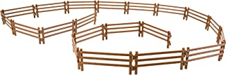 TOYMANY 20PCS Horse Corral Fencing Accessories Playset, Plastic Fence Toys for Farm Barn Paddock Horse Stable or Farm Animals Horses Figurines, Educational Gift Cake Toppers for Kids Toddlers