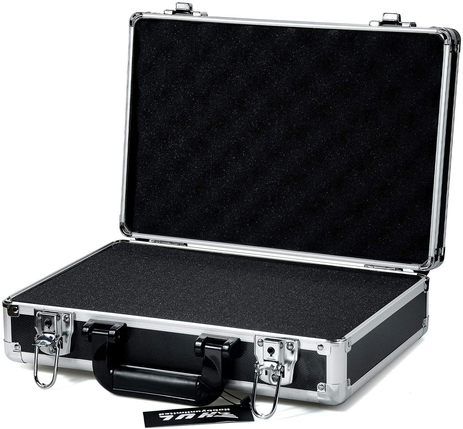 HUL 14in Two-Tone Aluminum Case with Customizable Pluck Foam Interior for Test Instruments Cameras Tools Parts and Accessories