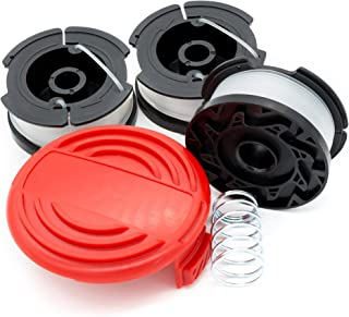 Garden NINJA Replacement Trimmer Spool Compatible with Black+Decker AF-100, 3-Spool with 1 Cap … (3 - Spool Plus Cap)