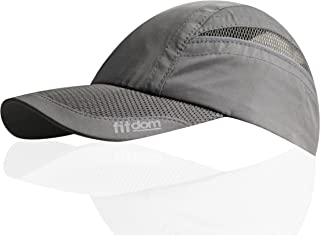 Fitdom Lightweight Sports Cap for Men and Women, One Size Fits All Even with a Ponytail, All Season Performance Hat for Running, Walking, Hiking, Marathon, Tennis, Golf & More