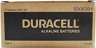 Long Lasting Power Duracell Alkaline D Battery 12 Pack, (03973)