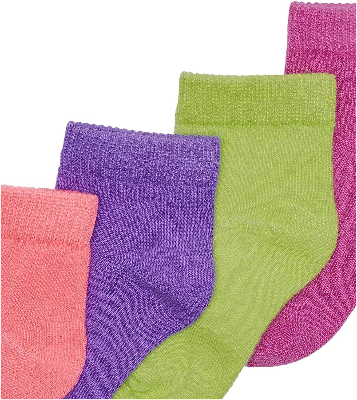Hanes Girls' Toddler Ankle EZ Sort Socks Assorted 10-Pack - 37/10